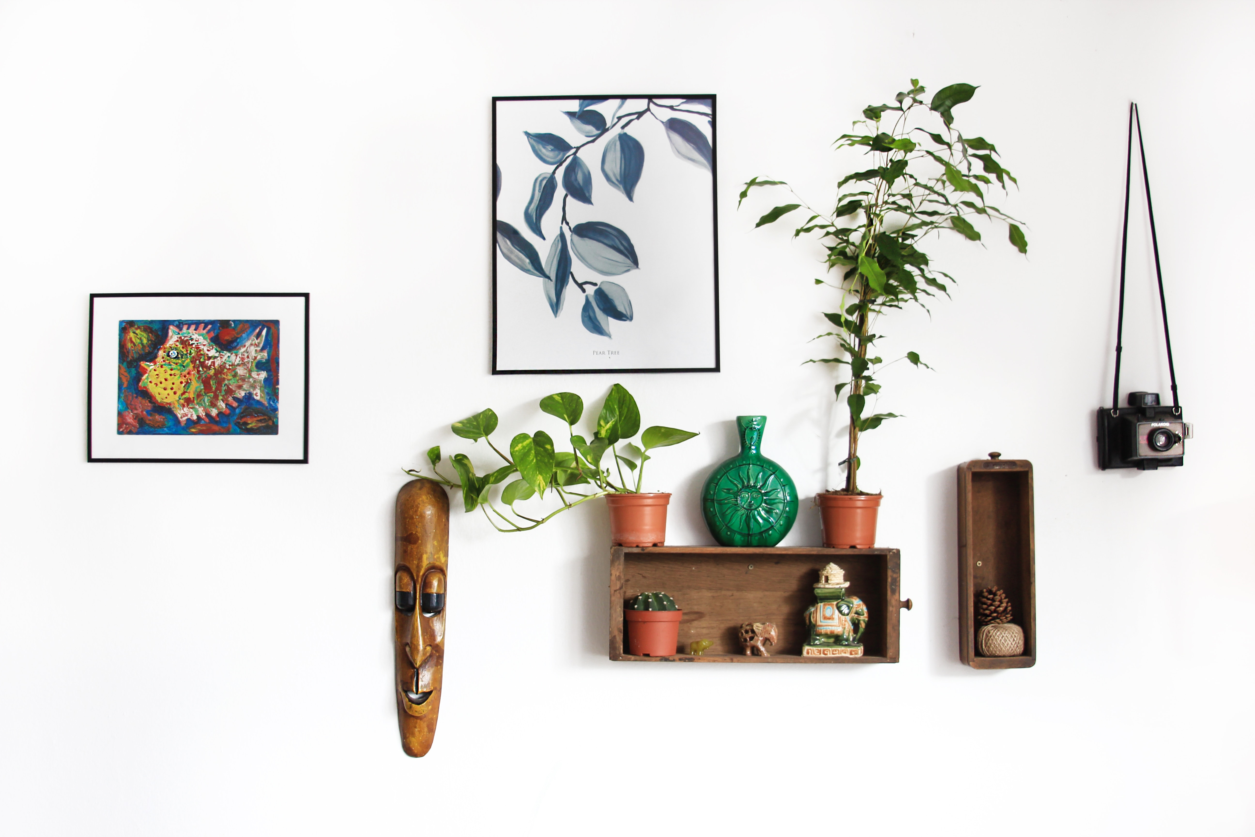 Mur avec décorations